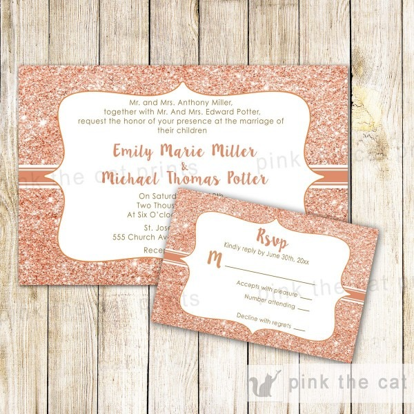 Wedding Invitations With Rsvp Cards