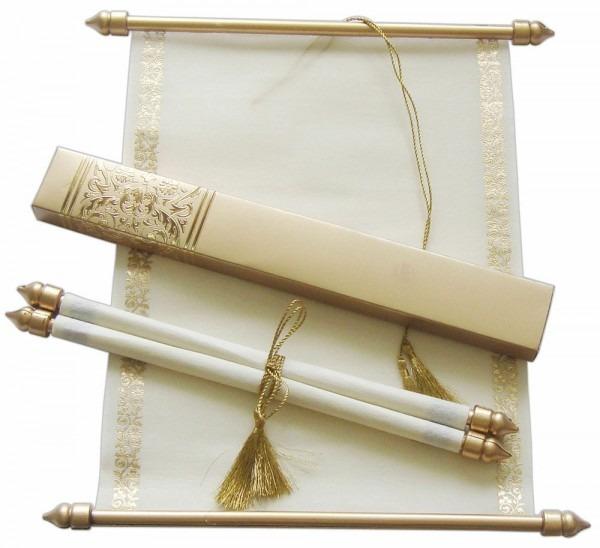 Invitation Wedding Scroll Card Personlized Wedding Scroll
