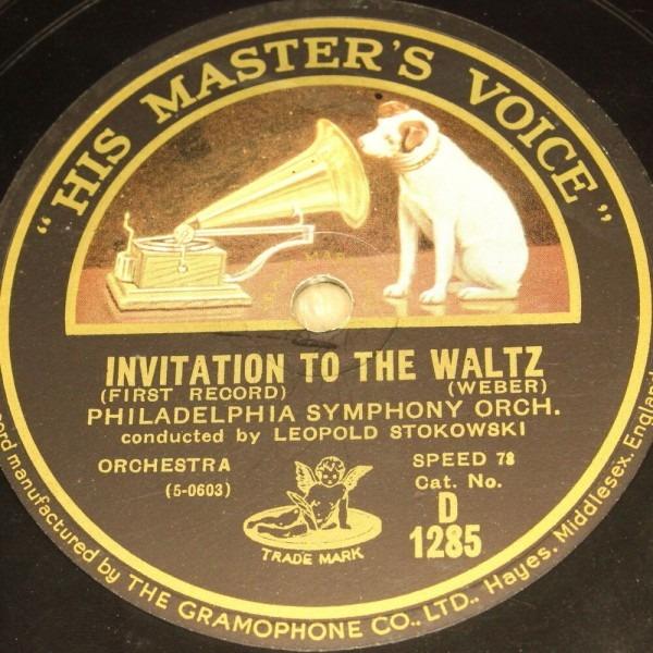 L Stokowski With Orch    Invitation To The Waltz   Hmv 78rpm 12