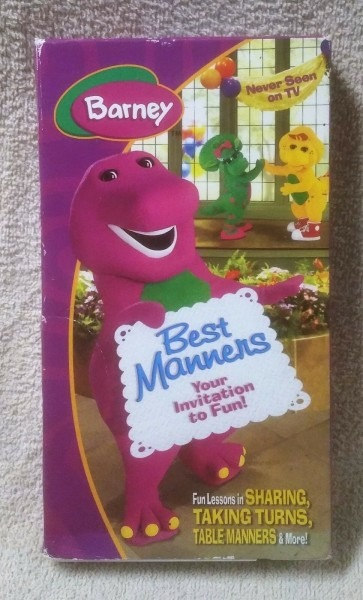 Barney Best Manners Your Invitation To Fun Vhs Never Seen On Tv