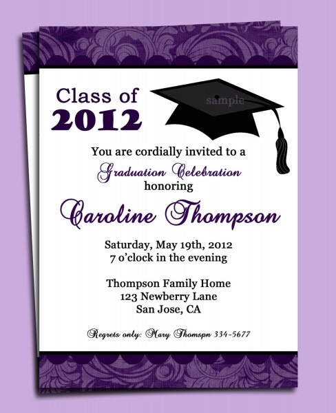 Sample Graduation Invitation