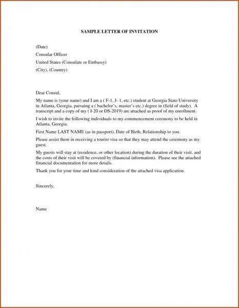 Visa Invitation Letter Sample Korea Sample Invitation Letter For
