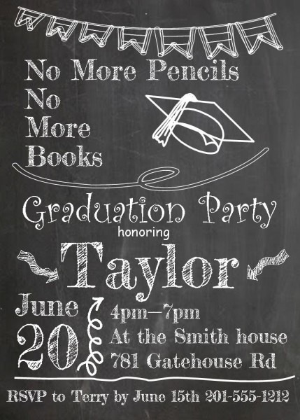Graduation Party Invitations ~ High School Or College Graduation