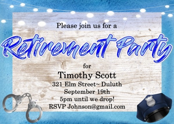 Retirement Party Invitations   Custom Designed New For Spring 2019