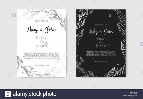 Silver Vector Invitation With Floral Elements  Great For