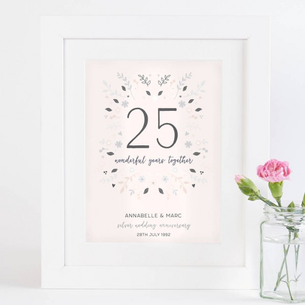 Silver Wedding Anniversary Gifts For Husband: 25th Anniversary Invitation Cards In Hindi