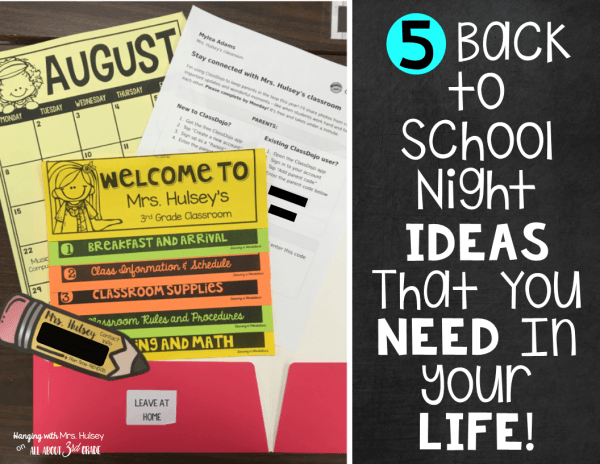 5 Back To School Night Ideas You Need In Your Life