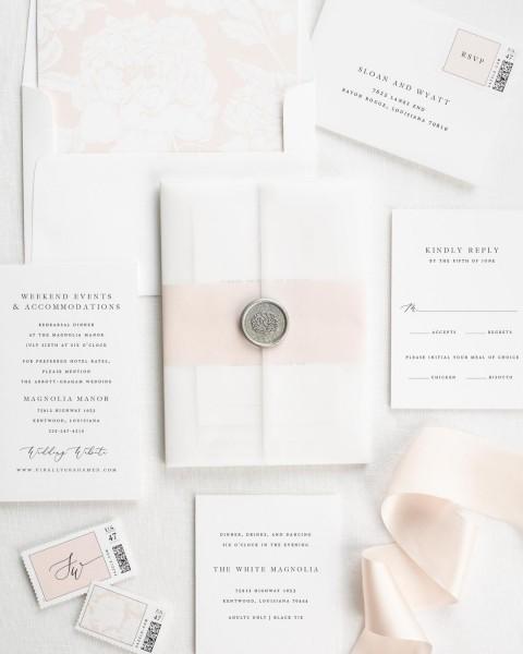 Sloan Vellum Wedding Invitations