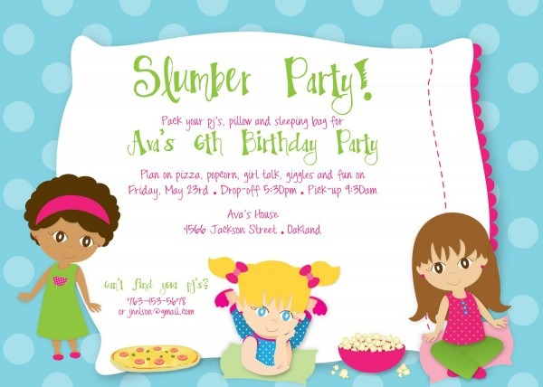 Slumber Party Invitation – Party Decorations Ideas