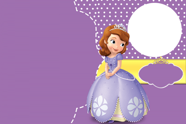 27 Images Of Sofia The First Birthday Card Template