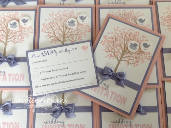 Stampin Up Wedding Invitations