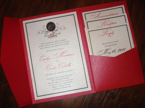 Stylish Pocketfold Wedding Invitations 17 Best Images About