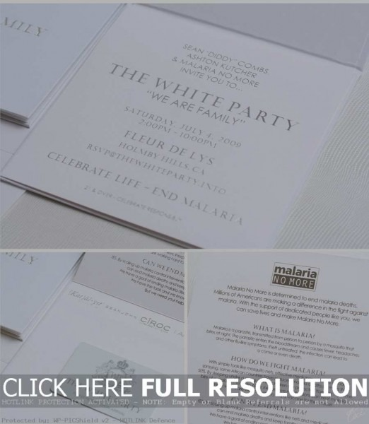 White Party Invitation