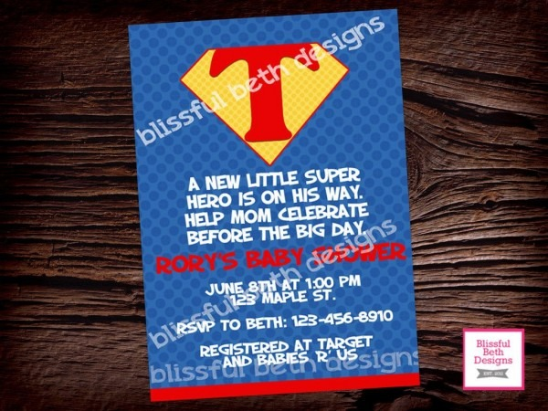 Superman Baby Shower Invitations For The Perfection Of Your
