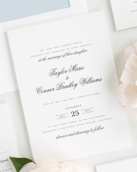 Elegant Ice Blue Wedding Invitations – Wedding Invitations