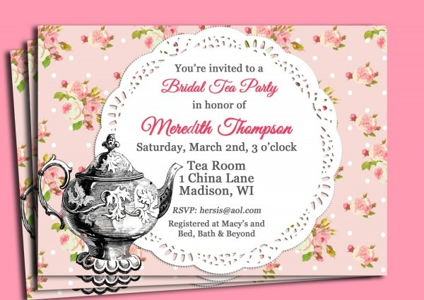 Tea Party Invitation Wording Tea Party Invitation Wording For Best