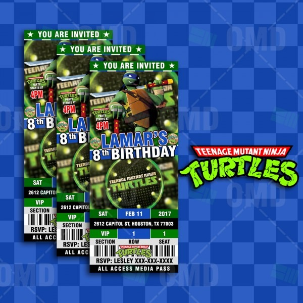 Teenage Mutant Ninja Turtles Ultimate Party Package – Cartoon Invites
