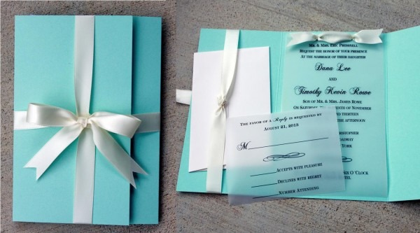 Tiffany Themed Wedding Invitations From Websolutionvilla And Get