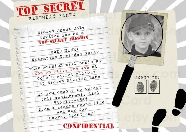 Free Printable Spy Party Invitations