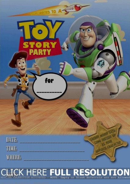 Toy Story Invitation Template Download