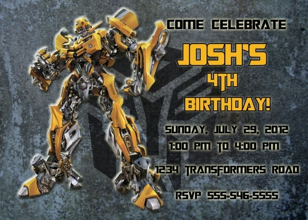 Personalized Transformers Bumblebee Birthday And 37 Similar Items