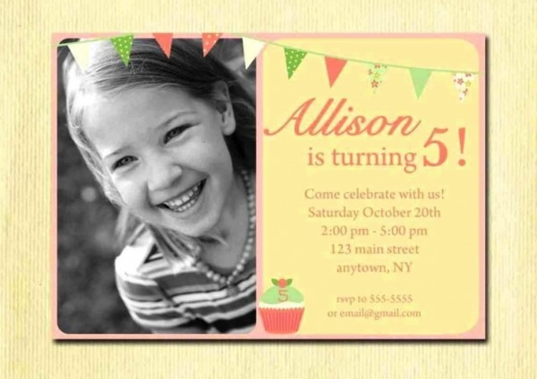 99+ Birthday Invite Wording For 5 Year Old