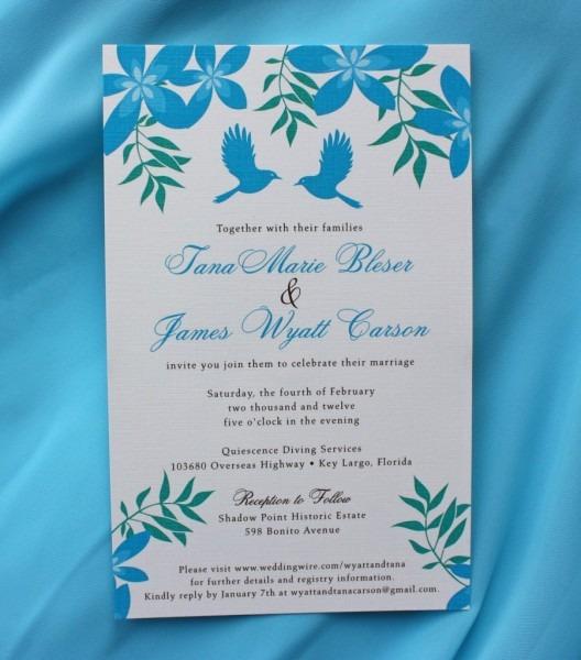 Turquoise Wedding Invitations Turquoise Wedding Invitations And