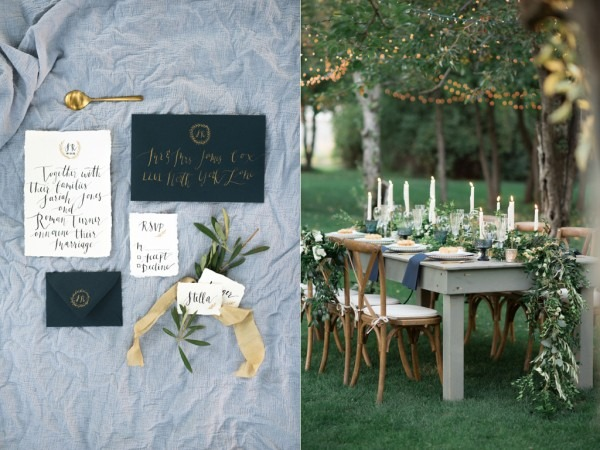 Stunning White + Green Tuscan Wedding Inspiration