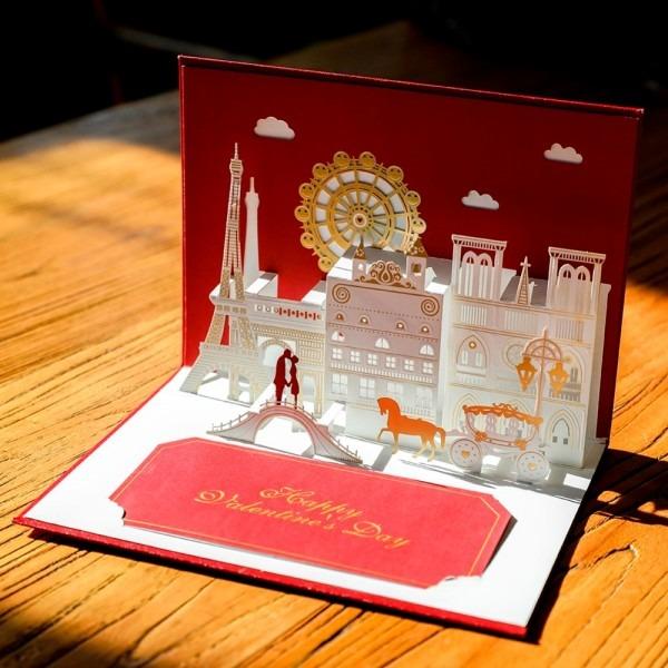 Valentines Gifts Wholesale 10pc 3d Wedding Invitation Pop Up
