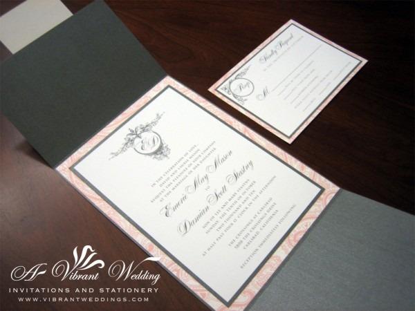 Charcoal Grey Wedding Invitation – A Vibrant Wedding Invitations