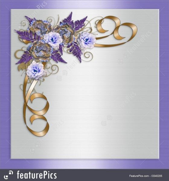 Illustration Of Wedding Invitation Lavender Floral