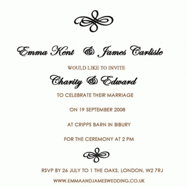 Wedding Invitation Wording Bride And Groom Hosting Invitations
