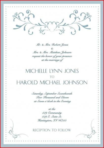 Invitations   Wedding Invitation Wording Christian Sample Cards