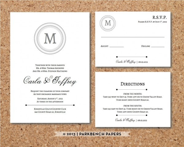 Wedding Invites With Rsvp Cards