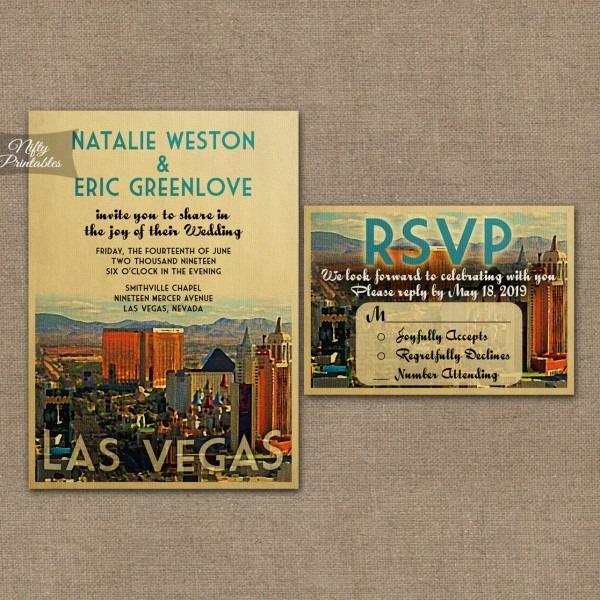 Las Vegas Wedding Invitations Vtw