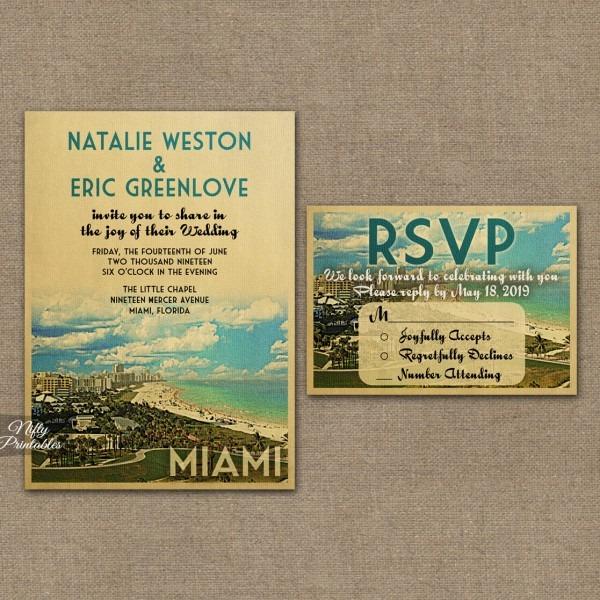 Miami Florida Wedding Invitations Vtw