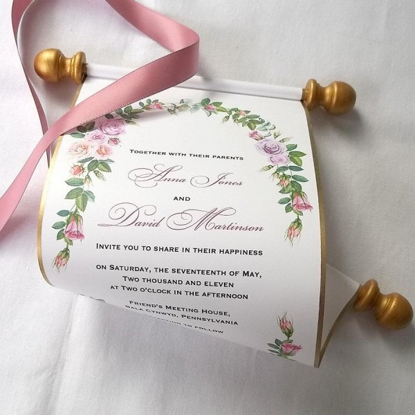 Wedding Scroll Invitation From Festdude Combined With Exquisite