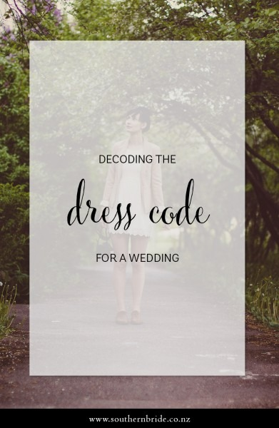 What's The Dress Code For Weddings
