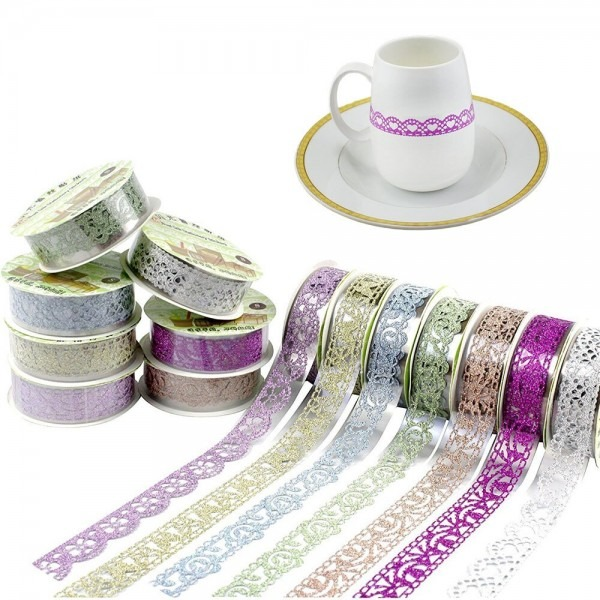 Zljq 3pcs Wedding Party Decorative Craft Tape Rolls For Gifts