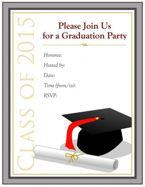 003 Template Ideas Graduation Party Invitations Templates