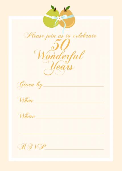 004 50th Anniversary Invitations Templates Template Striking Ideas