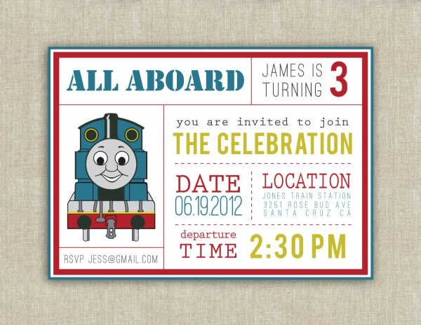 004 Template Ideas Thomas The Train Party Invitations This Is