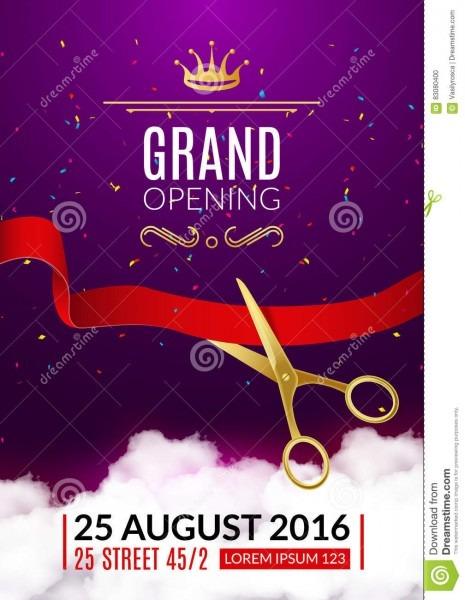 015 Template Ideas Free Grand Opening Invitation Templates Popular