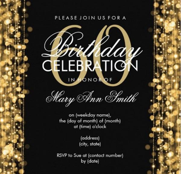 011 60th Birthday Invites Templates Invitations With Surprising