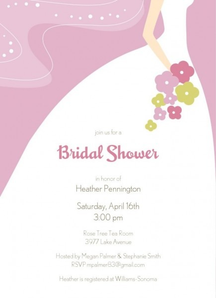 011 Free Bridal Shower Invite Template Ideas Invitation Templates
