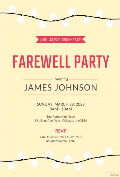 011 Free Farewell Invitation Template Word Phenomenal Ideas Bbq