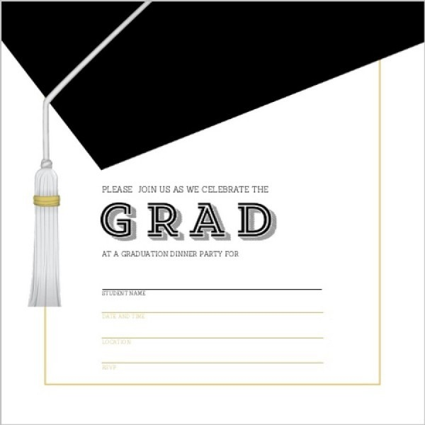 011 Graduation Invitation Templates Party Invitations Template