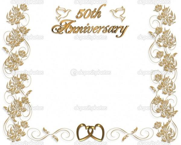 018 50th Anniversary Invitation Template Wedding Invitations