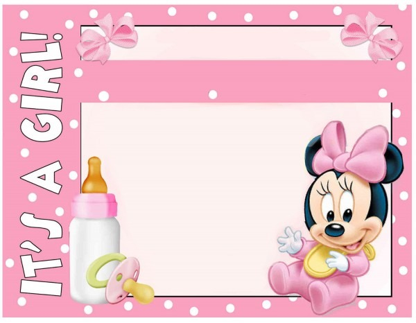 019 Template Ideas Baby Shower Invitation Free Minnie Mouse
