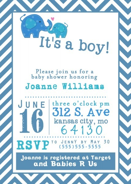 023 Template Ideas Baby Shower Invitation Free Templates Boy Its